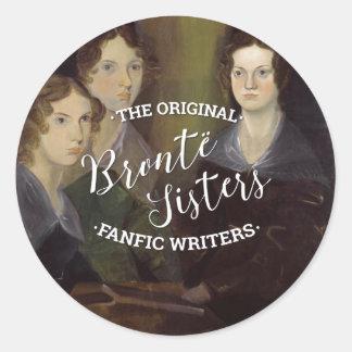 Die Bronte Schwestern - die ursprünglichen Fanfic Runder Aufkleber