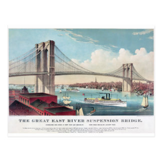 Die Brooklyn-Brücke in New York City ab 1883 Postkarten