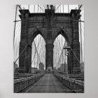 Die Brooklyn-Brücke in New York City Poster