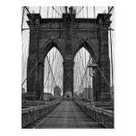 Die Brooklyn-Brücke in New York City Postkarte