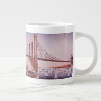 Die Brooklyn-Brücke Jumbo-Tasse