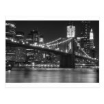 Die Brooklyn-Brücke - Schwarzweiss Postkarte