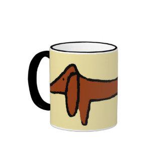 Die Brown-Dackel Kaffee Haferl
