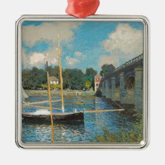 Die Brücke bei Argenteuil - Claude Monet Silbernes Ornament