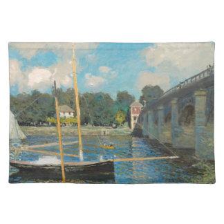 Die Brücke bei Argenteuil - Claude Monet Tischset