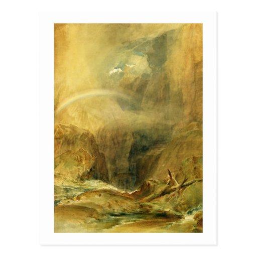 Die Brücke des Teufels, Durchlauf St. Gotthards, c Postkarten