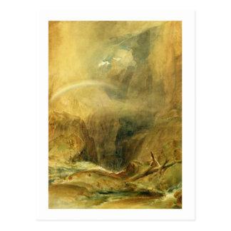 Die Brücke des Teufels, Durchlauf St. Gotthards, Postkarte