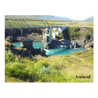 Die Brücke, die Skjálfandafljót Fluss, Island Postkarte