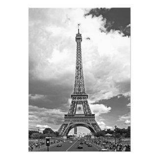 Die Brücke von Jena mit Blick auf den Eiffelturm Fotodruck
