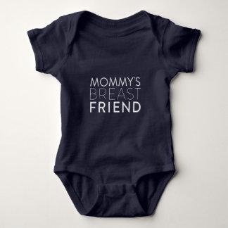 Die Brust-Freundbabybodysuit der Mama (weißer Baby Strampler