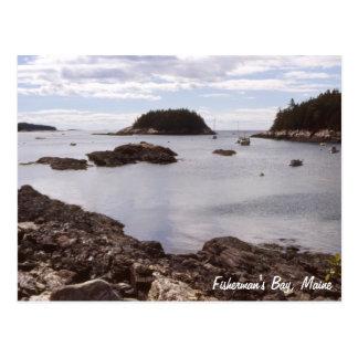 Die Bucht Maine des Fischers Postkarte
