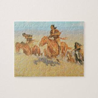 Die Büffel-Läufer, Big Horn-Becken durch Remington Puzzle