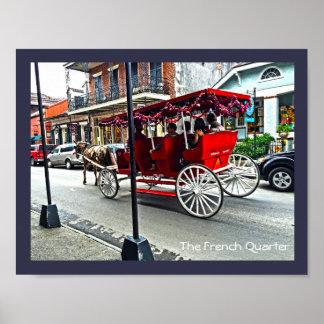 Die Buggy-Fahrt des französischen Viertel-| in der Poster