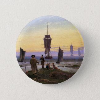 Die Bühnen des Lebens durch Caspar David Friedrich Runder Button 5,1 Cm