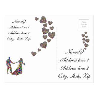 Die bunten Paare Postkarte