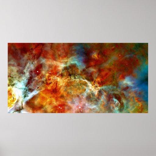 Die bunten Wolken von Carina Plakat