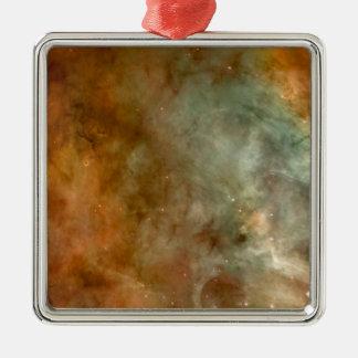 Die Carina-Nebelfleck-Marmor-Blick NASA Quadratisches Silberfarbenes Ornament
