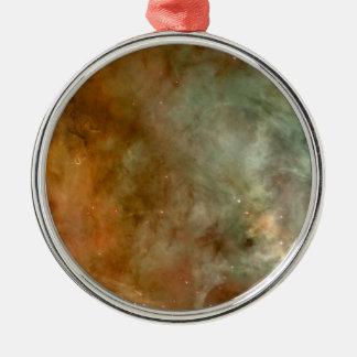 Die Carina-Nebelfleck-Marmor-Blick NASA Rundes Silberfarbenes Ornament