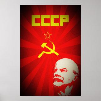 die cccp Sowjetunion kommunistisches rotes Lenin Poster