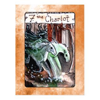 Die chariot-Tarot-Karte Postkarte
