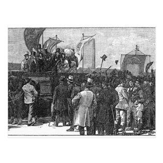 Die chartist-Demonstration auf Kennington Postkarten