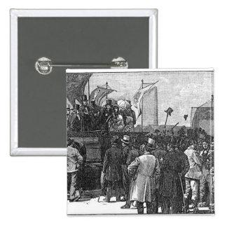 Die chartist-Demonstration auf Kennington Quadratischer Button 5,1 Cm