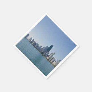 Die Chicago-Skyline Papierserviette