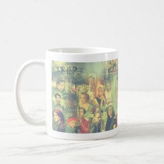 Die Collage der Stamm-Reihen-5 Kaffeetasse