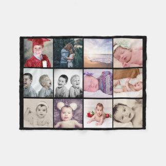 die Collage mit 12 Fotos machen Ihr eigenes Fleecedecke