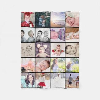 die Collage mit 20 Fotos machen Ihr eigenes Fleecedecke
