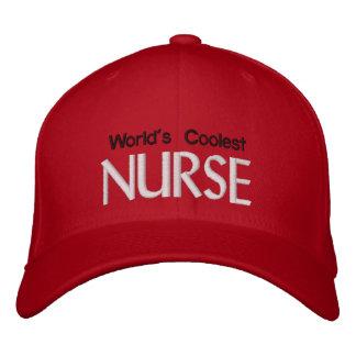 Die coolste Krankenschwester der Welt Bestickte Kappe