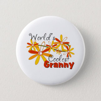 Die coolste Oma der Blumenwelt Runder Button 5,1 Cm