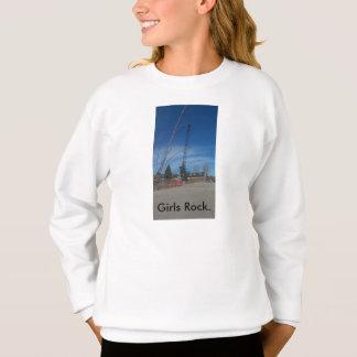 Die Crew-Hals-Sweatshirt des Mädchens mit dem Sweatshirt