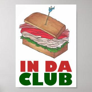 Die DA-Verein-Türkei-Club Sandwich im lustigen Poster