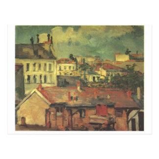 Die Dächer durch Paul Cezanne Postkarte