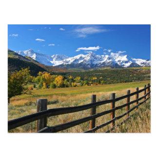 Die Dallas-Verteilung nahe Ridgway, Colorado… Postkarte