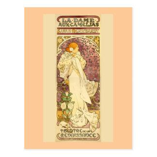 Die Dame der Kamelien Postkarte