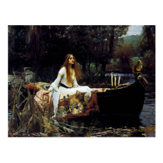 Die Dame der Schalotte Postkarte