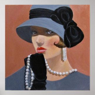 Die Dame in Graay Poster