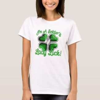 Die Dame Luck des Soldaten T-Shirt