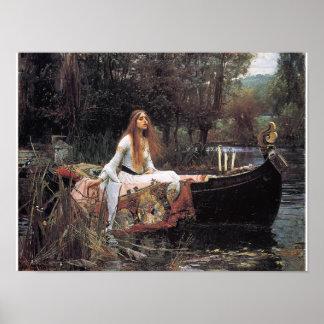 Die Dame von Shalott Plakat durch John W Waterhou