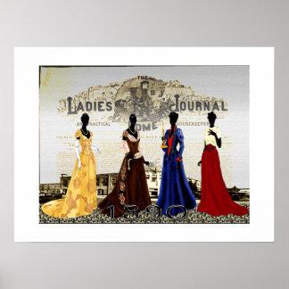 Die Damen-Zuhause-Zeitschrift 1890 Poster