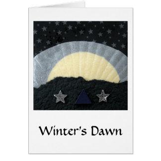 Die Dämmerung des Winters - Collage Grußkarte