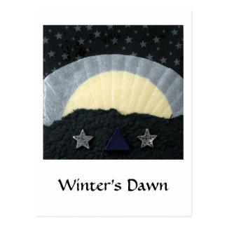 Die Dämmerung des Winters - Collage Postkarte