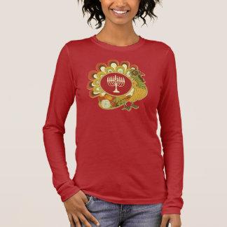 Die dekorative Türkei Menorah Langarm T-Shirt
