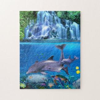 Die Delphin-Familie Puzzle