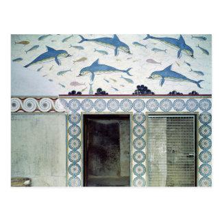 Die Delphin-Freskos im Badezimmer der Königin Postkarte