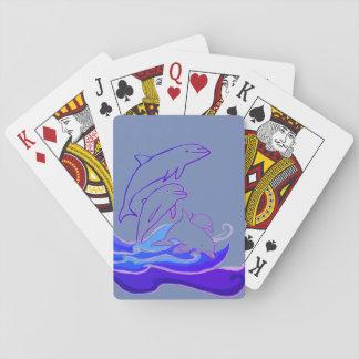 Die Delphine Wellen klassische Spielkarten