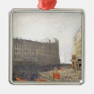 Die Demonstration, 1905 Quadratisches Silberfarbenes Ornament