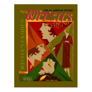 Die Der Freund-November-Zeitschrift der Hexe Postkarte
